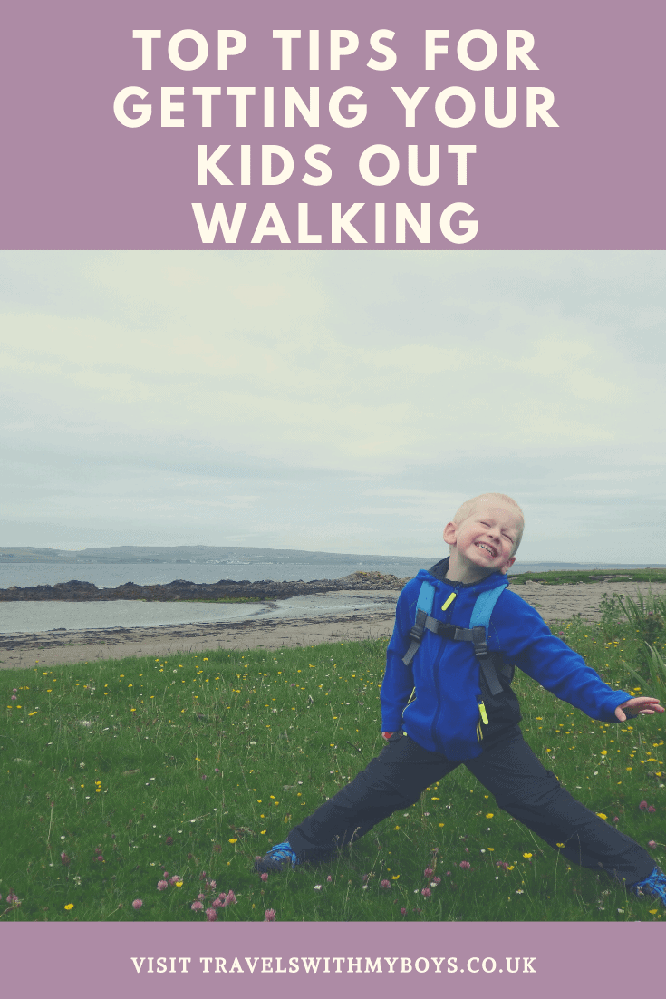 Tips on getting your kids outside and walking - Tips to make your kids interested in the outdoors.