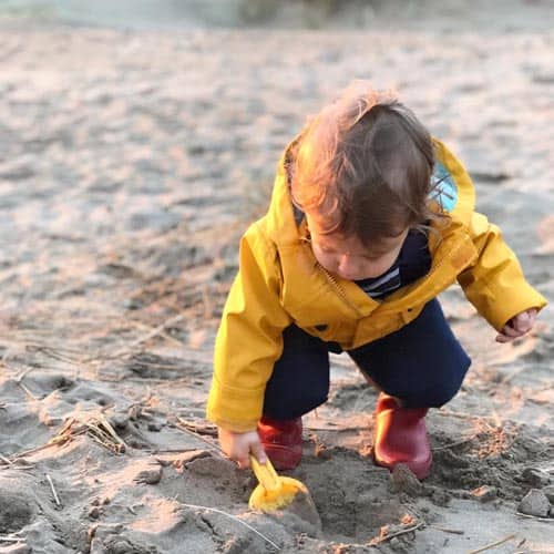 young toddler at the beach
