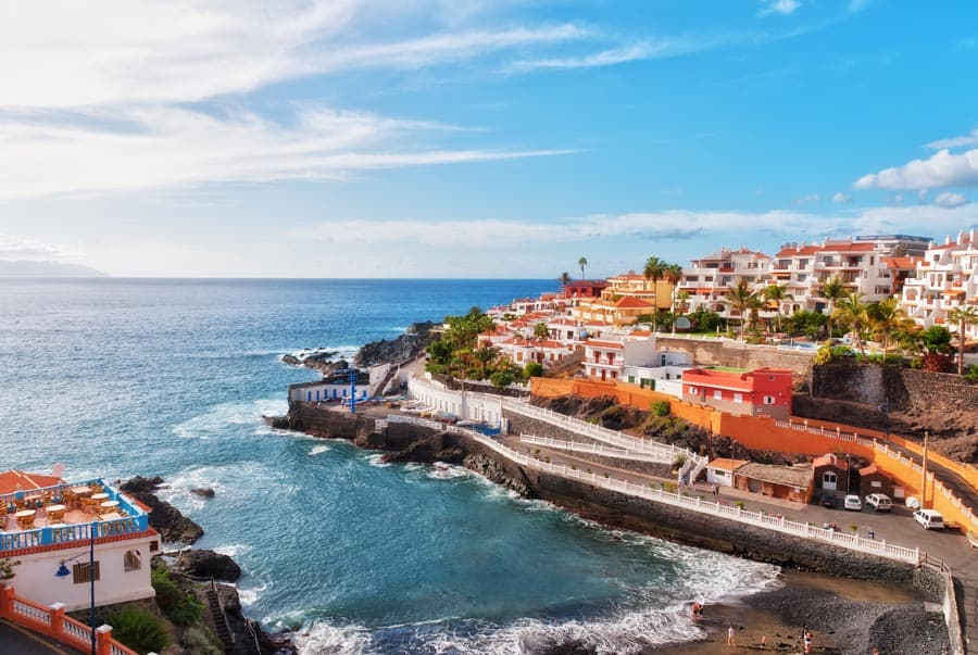 Puerto Santiago, Tenerife, in the Spanish Canary Islands