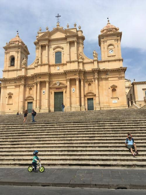 The cathdral at Noto, Sicily