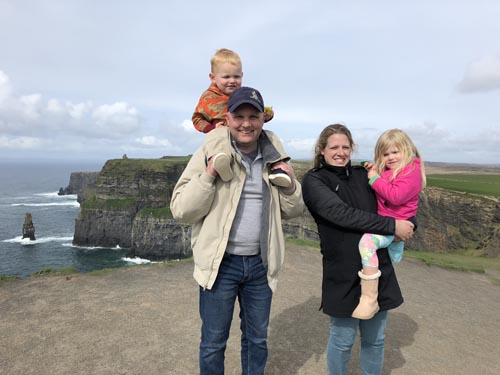 family in Ireland