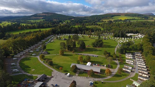 Blair Castle Aerial Shot